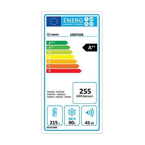 li80 ff2 oxb indesit frigorifero classe a++ 330 lt combinato no frost silver