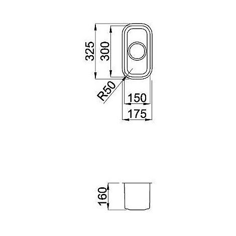 lic130sacun elleci lavello inox space 130 175x325 1 vasca satinato cartone sottotop