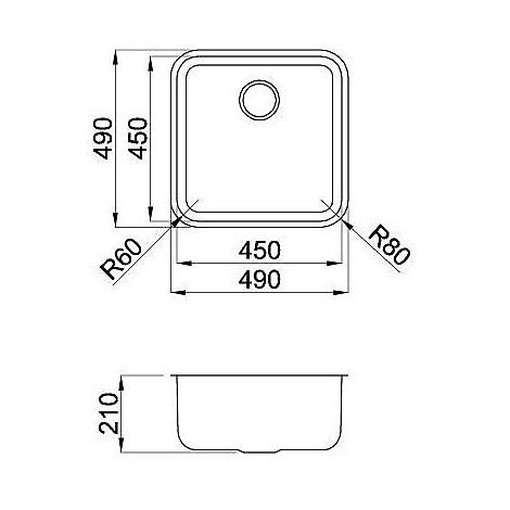 lic455sacun elleci lavello inox space 455 487x487 1 vasca satinato cartone sottotop
