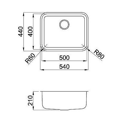 lic500sacun elleci lavello inox space 500 539x436 1 vasca satinato cartone sottotop