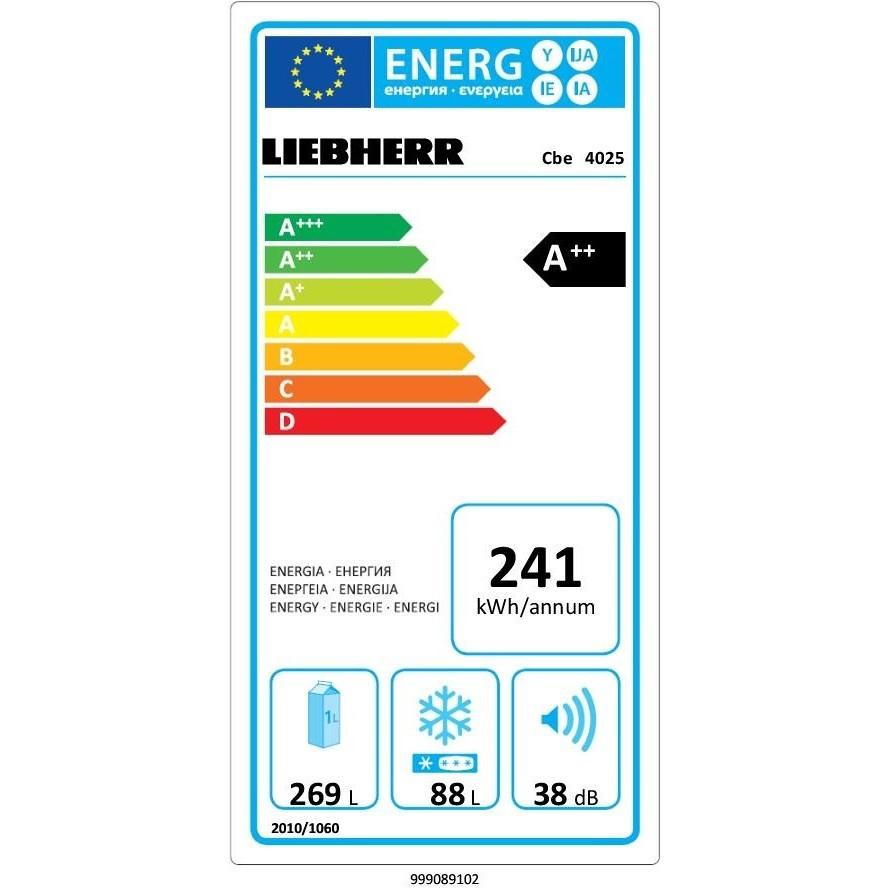 Liebherr Cbe 4025 Frigo Combinato 357 L Classe A++ Ventilato/ SmartFrost Colore Beige