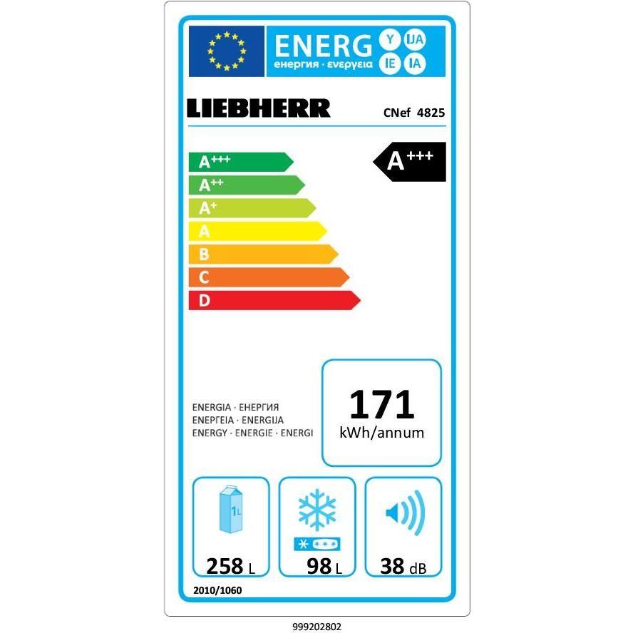 Liebherr CNef 4825 Frigo combinato 356 L Classe A+++ Ventilato/ No Frost Colore Argento