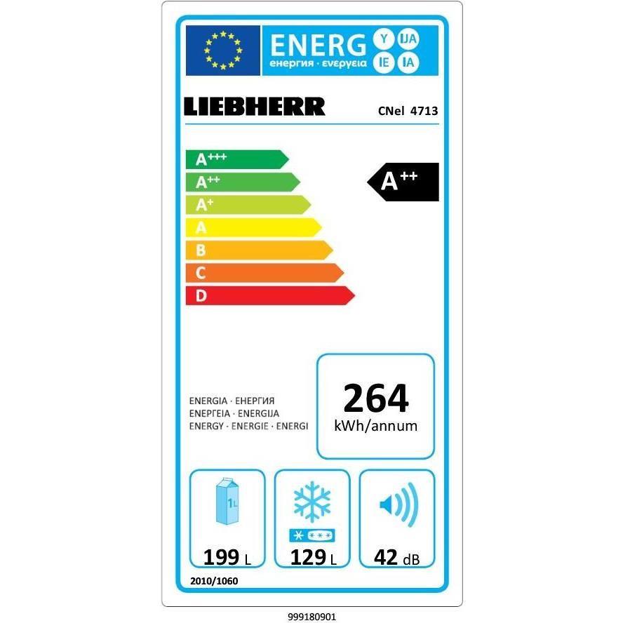 Liebherr CNel 4713 Frigo Combinato 328 L Classe A++ Ventilato/ NoFrost Colore Argento