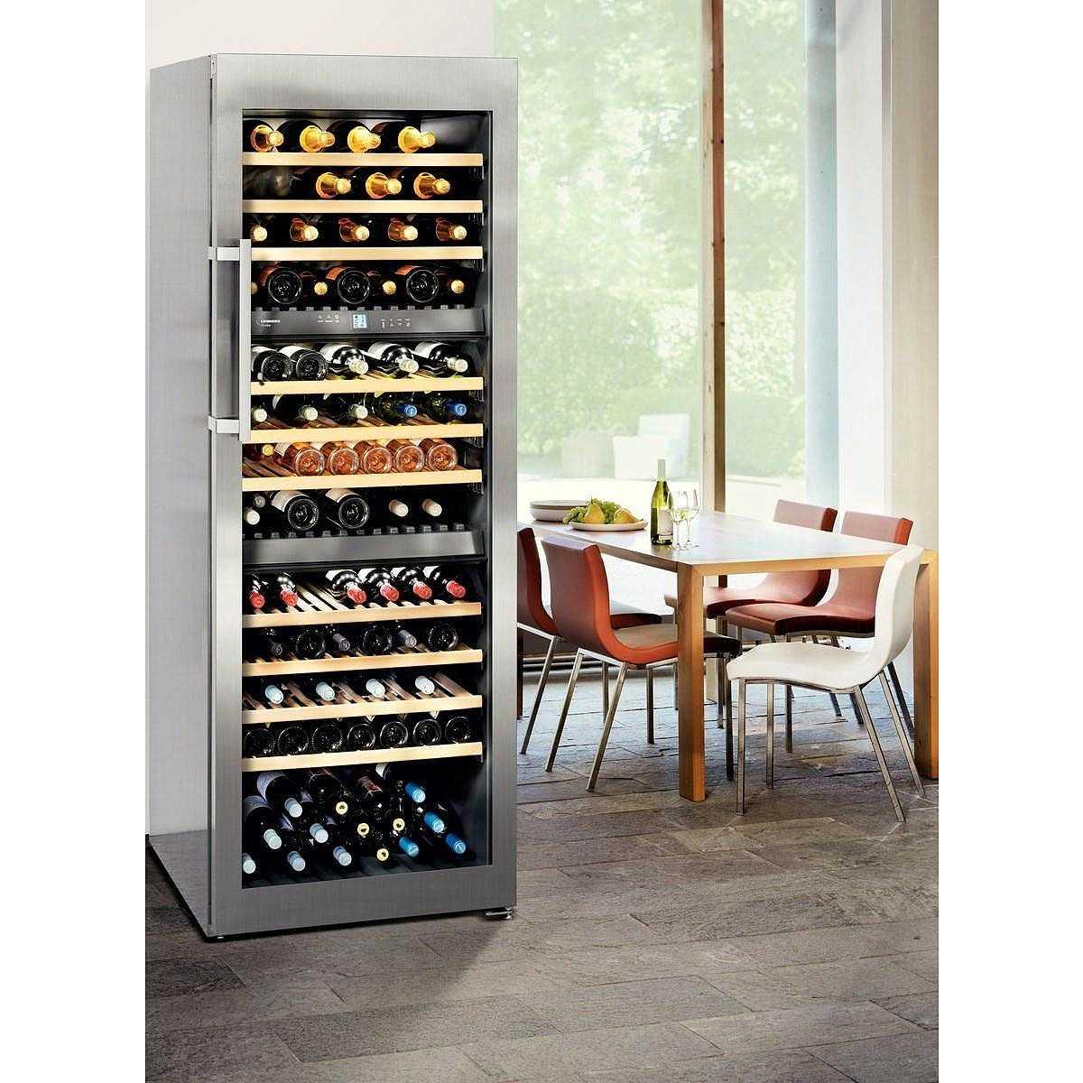 liebherr wtes 5872 vinidor frigo cantina 178 bottiglie powercooling classe a acciaio inox. Black Bedroom Furniture Sets. Home Design Ideas