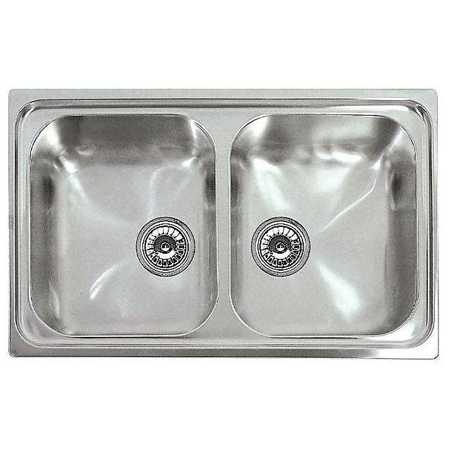 lir350sac elleci lavello inox river 300 79x50 2 vasche satinato cartone