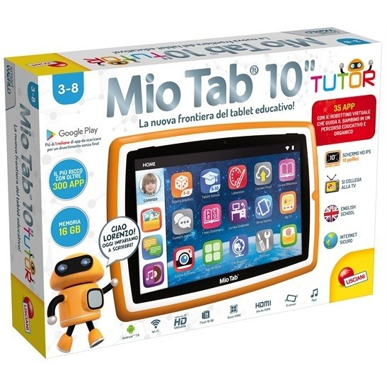 "Lisciani Mio Tab Tutor 2018 Tablet 10"" memoria 16 GB Wifi Android 7.0 Special Edition"