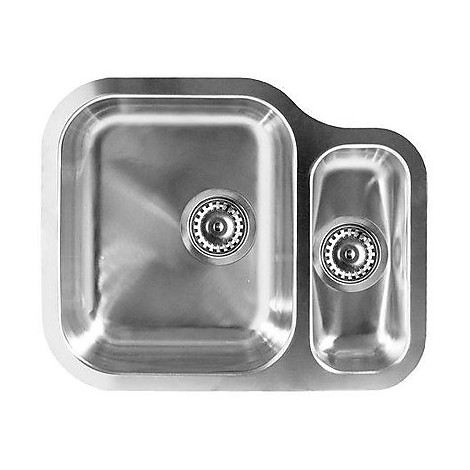 lix250sacrdun elleci lavello inox special 250 620x490 2 vasche satinato cartone vasca dx