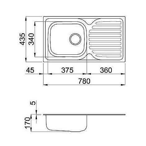 lix300sacdx elleci lavello inox special 300 780x435 1 vasca satinato cartone dx