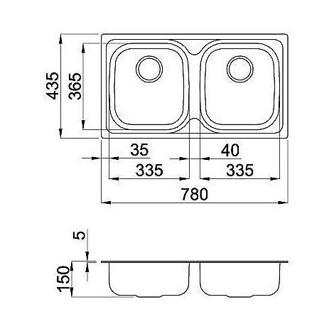 lix350sas2v elleci lavello inox special 300 780x435 2 vasche satinato sacco