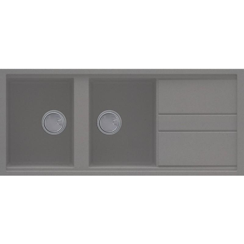 lmb50073 elleci lavello best 500 116x51 2 vasche titanium 73