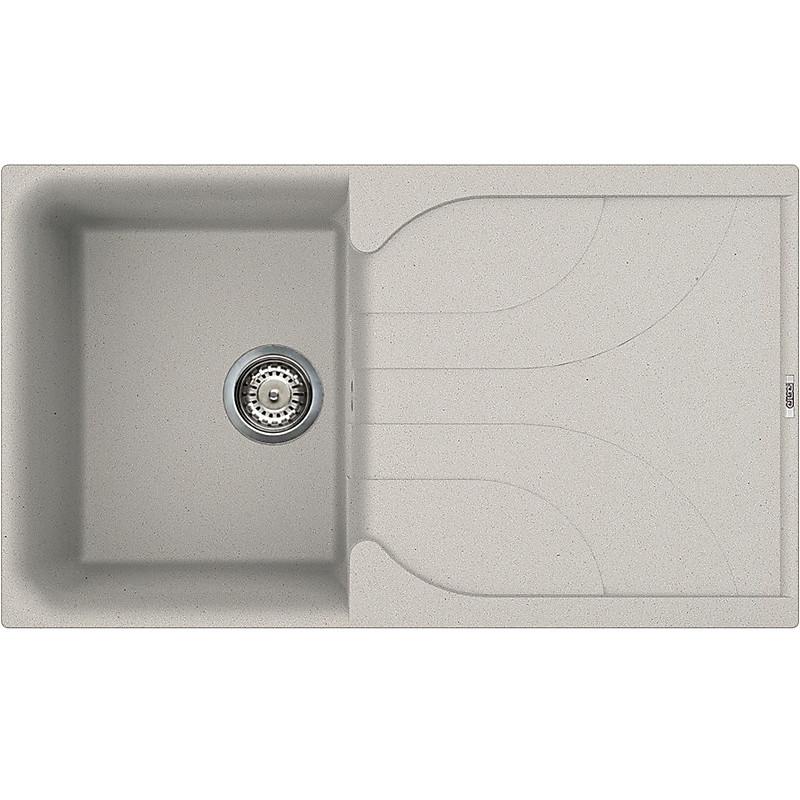 lme40071 elleci lavello ego 400 86x50 1 vasca alluminio 71