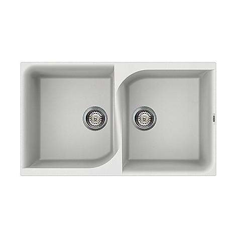 lme45071 elleci lavello ego 450 86x50 2 vasche alluminio 71