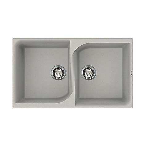 lme45079 elleci lavello ego 450 86x50 2 vasche aluminium 79