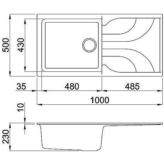 lme48079 elleci lavello ego 480 100x50 1 vasca aluminium 79