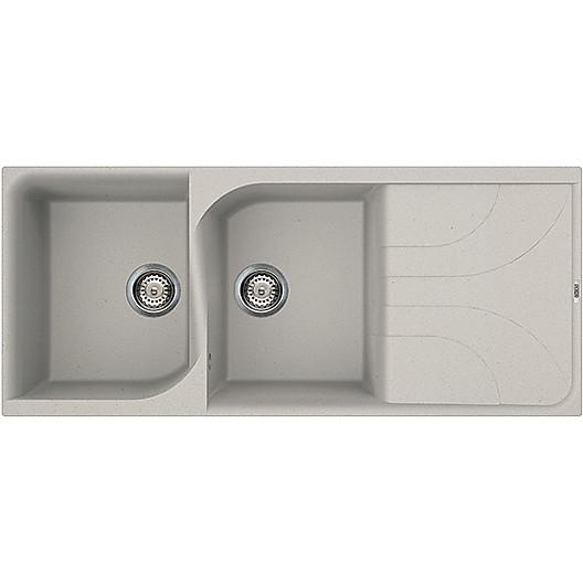 lme50071 elleci lavello ego 500 116x50 2 vasche alluminio 71