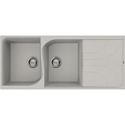 lme50079 elleci lavello ego 500 116x50 2 vasche aluminium 79