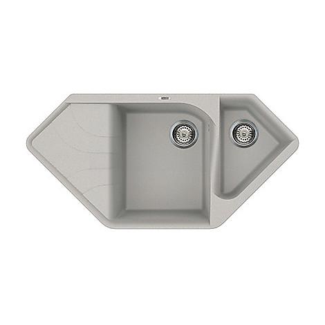 lmecor79 elleci lavello ego corner 100x50 2 vasche aluminium 79