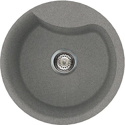 lmerou73 elleci lavello ego round 48.5 1 vasca titanium 73