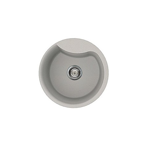 lmerou79 elleci lavello ego round 48.5 1 vasca aluminium 79
