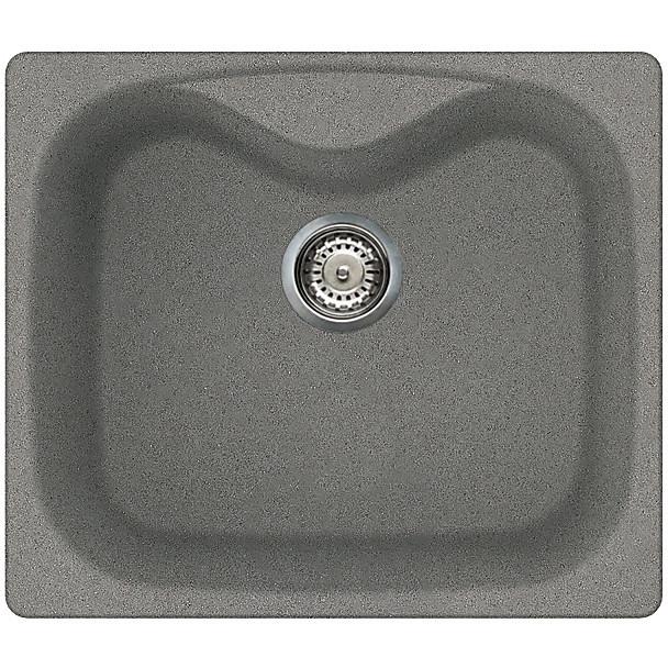 lmf20073 elleci lavello fox 200 58x50 1 vasca titanium 73