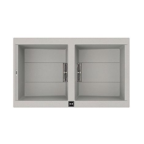 lmi45079 elleci lavello sirex 450 86x51,6 2 vasche aluminium 79 meccanico vasca sx