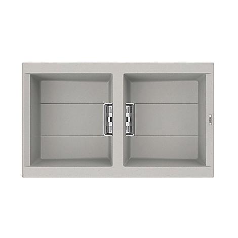 lmi45079smt elleci lavello sirex 450 86x51,6 2 vasche aluminium 79 meccanico