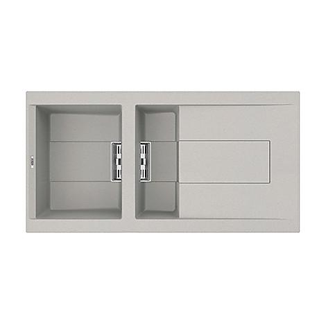 lmi47579smt elleci lavello sirex 475 100x51,6 1+1/2 vasche aluminium 79 meccanico