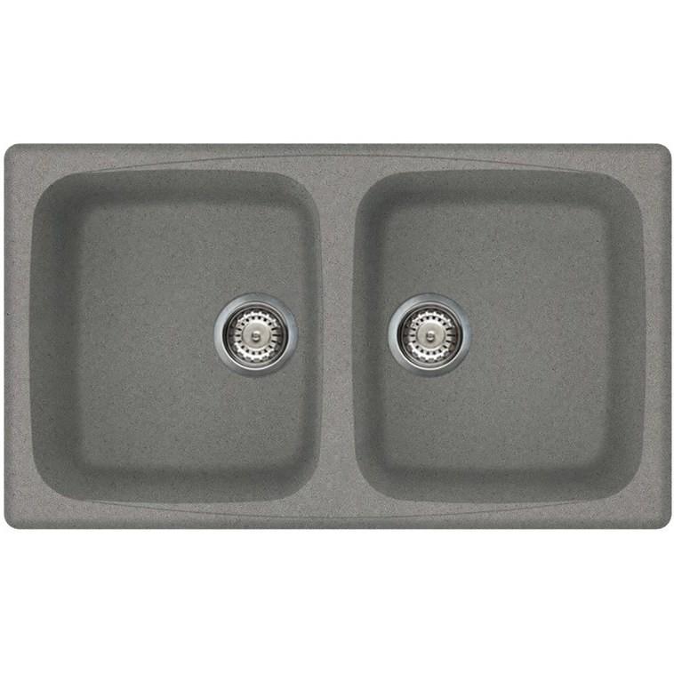 lmm45073 elleci lavello master 450 86x50 2 vasche titanium 73