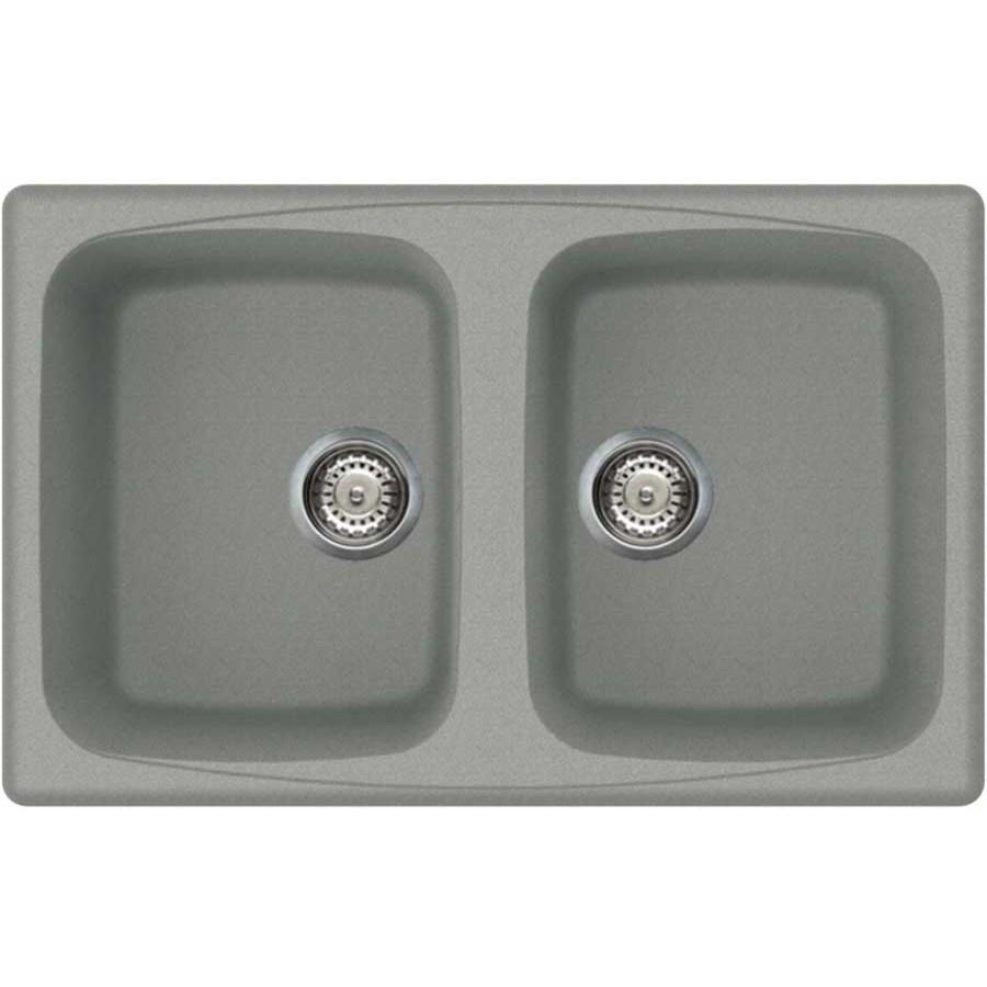 lmm45077 elleci lavello master 450 86x50 2 vasche chromium 77