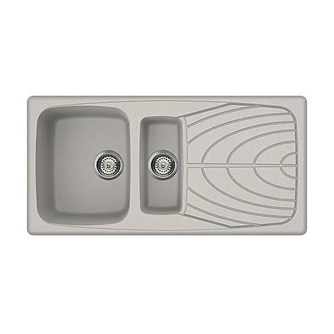 lmm47571 elleci lavello master 475 100x50 2 vasche alluminio 71
