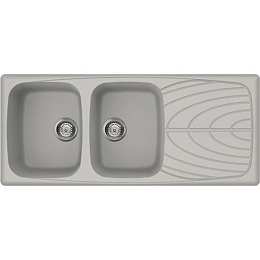 lmm50079 elleci lavello master 500 116x50 2 vasche aluminium 79