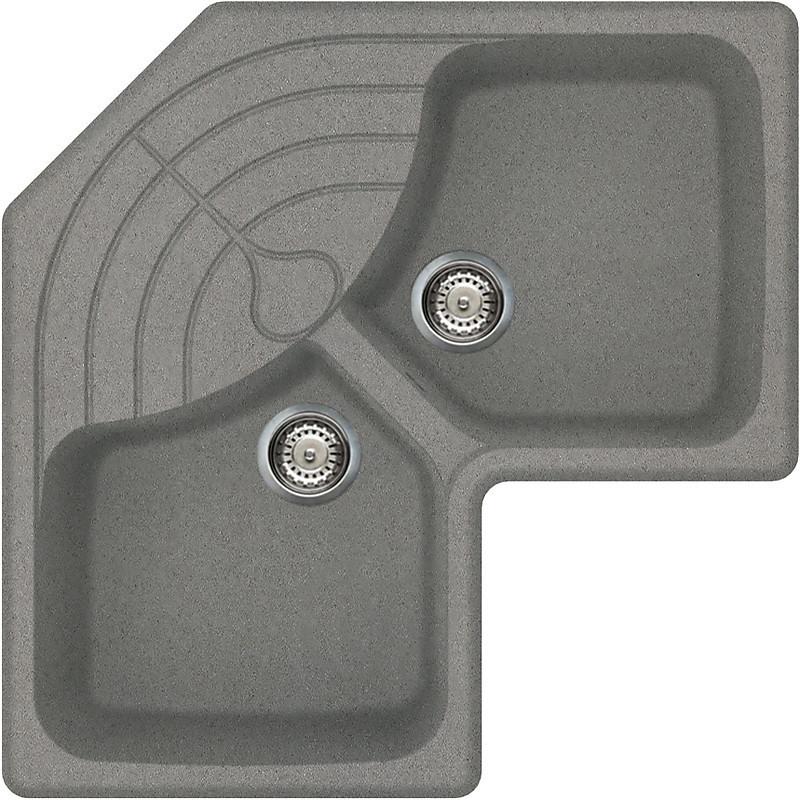 lmmcor73 elleci lavello master corner 83x83 2 vasche titanium 73