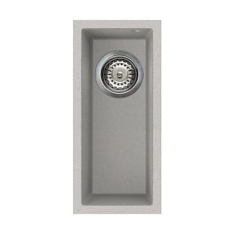 lmq05079bso elleci lavello quadra 50 23x50 1 vasca aluminium 79 sotto top