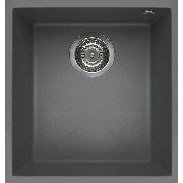 lmq10073bso elleci lavello quadra 100 41x50 1 vasca titanium 73 sotto top