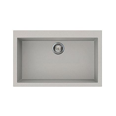 lmq13079 elleci lavello quadra 130 79x50 1 vasca aluminium 79