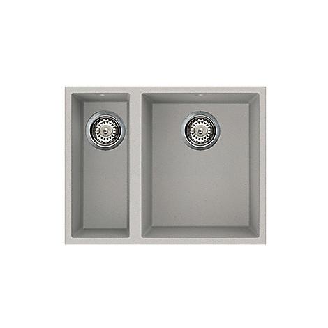 lmq15079bso elleci lavello quadra 150 59x50 2 vasche aluminium 79 sotto top