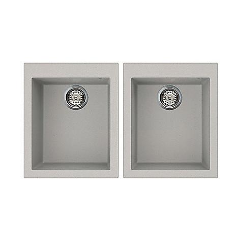 lmq20079 elleci lavello quadra 200 2 vasche aluminium 79