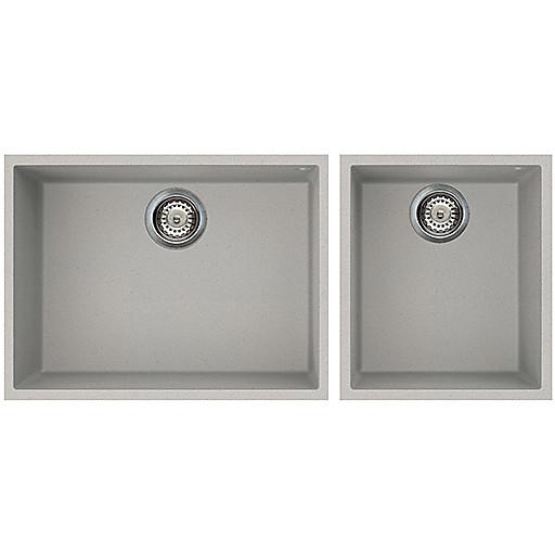 lmq21079bso elleci lavello quadra 210 2 vasche aluminium 79 sotto top