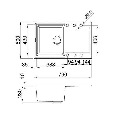 lmy30073 elleci lavello easy 300 79x50 1 vasca titanium 73