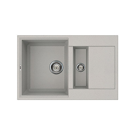 lmy32579 elleci lavello easy 325 78x50 2 vasche aluminium 79