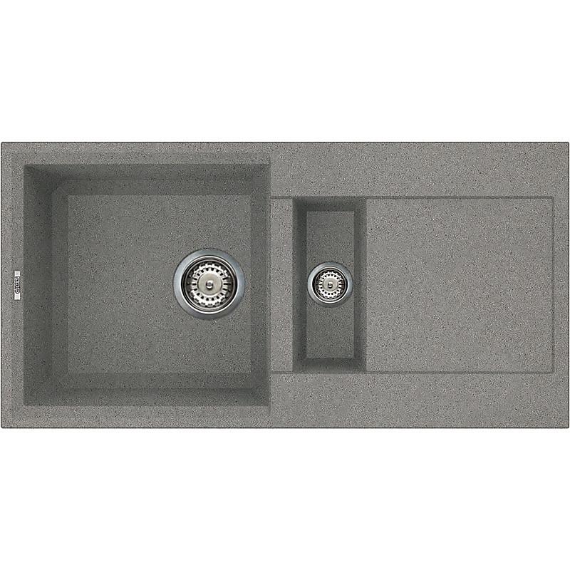 lmy42573 elleci lavello easy 425 86x43,5 2 vasche titanium 73