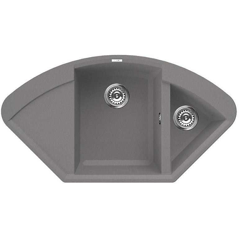 lmycor73 elleci lavello easy corner 105.7x57.5 2 vasche titanium 73