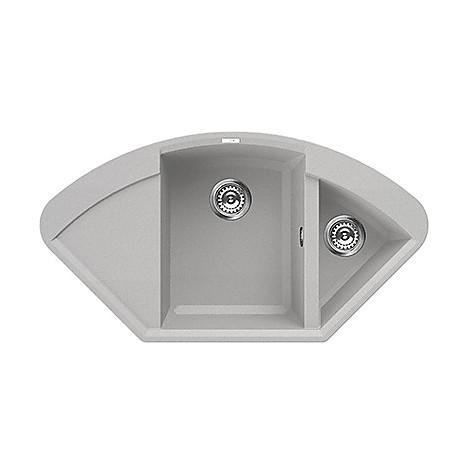 lmycor79 elleci lavello easy corner 105.7x57.5 2 vasche aluminium 79