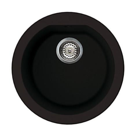 lsfrou13 elleci lavello round 44 1 vasca nero 13