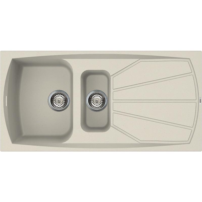 lsl47514 elleci lavello living 475 100x50 2 vasche bianco antico 14