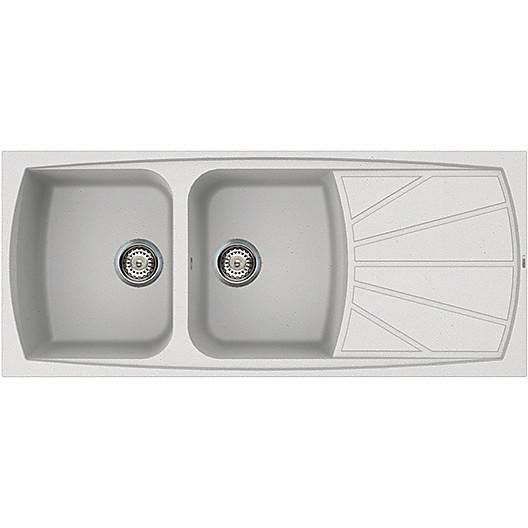 lsl50011 elleci lavello living 500 116x50 2 vasche bianco 11