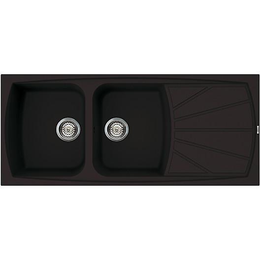 lsl50013 elleci lavello living 500 116x50 2 vasche nero 13