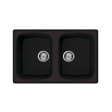 lsm35013 elleci lavello master 350 79x50 2 vasche nero 13