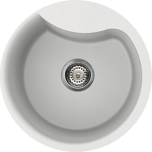 lverou96 elleci lavello ego round 48.5 1 vasca white 96