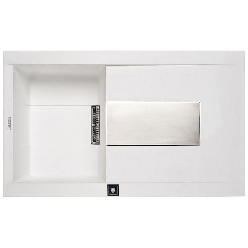 lvi40092 elleci lavello sirex 400 86x51,6 1 vasca old white 92 meccanico vasca sx